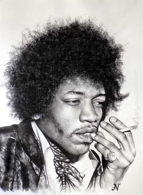 Jimi Hendrix par albertino